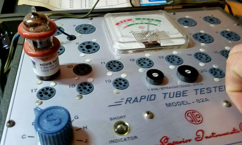 82A Tube Tester Holland 7308 Amperex Bugle Boy Test PicsCroppedSmaller