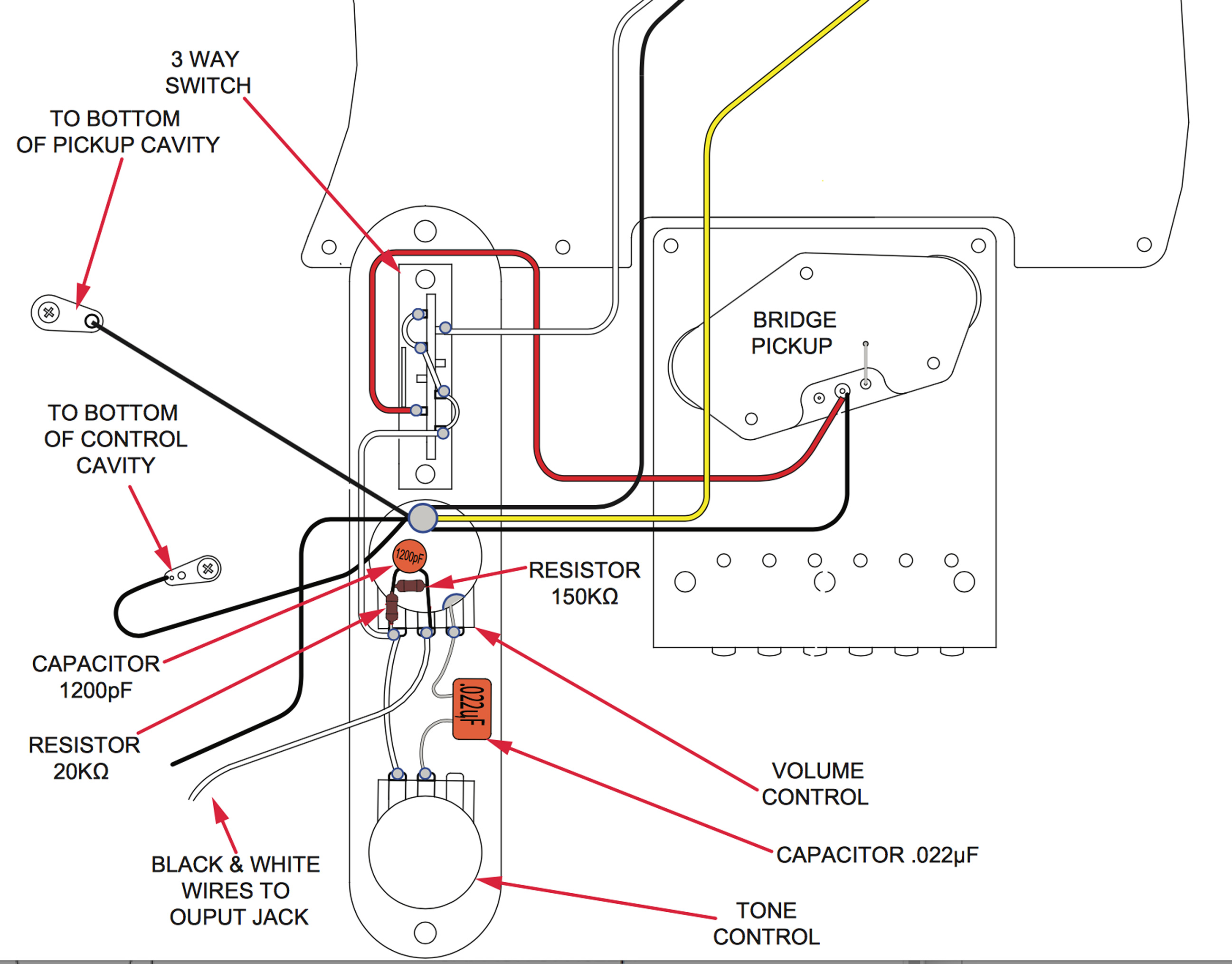 Stratocaster Wiring Diagram With 5 Way Switch