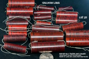 Mallory GEM Capacitors Assorted Burgundy Plastic Caps Pic 1