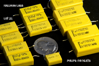 Philips Chicklet Capacitors 0.1uF to 1uF 250V Pic 2