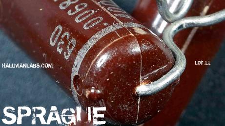 EBay Sprague Mylar Plastic Molded Burgundy Plastic 630 .0068 400V Pic 3