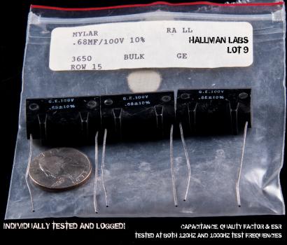 GE Mylar Film Black Molded Plastic 0.68uF 100V Pic 1
